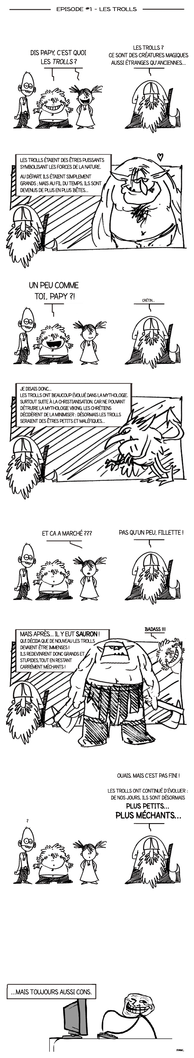 Papy Viking la BD - l'Origine des Trolls